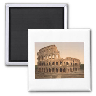 Exterior of the Colosseum, Rome, Italy Square Magnet