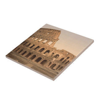 Exterior of the Colosseum Rome Italy Ceramic Tile