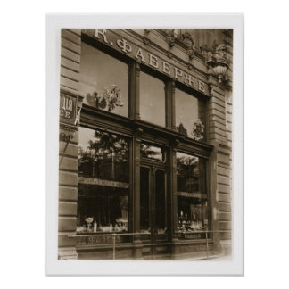 Exterior of the Faberge Shop, St. Petersburg, earl Poster
