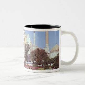 Exterior view, built 532-37 AD Two-Tone Coffee Mug