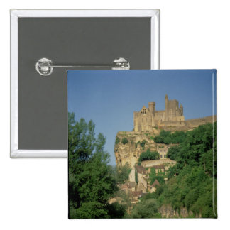 Exterior view from the lower cliffs 15 cm square badge