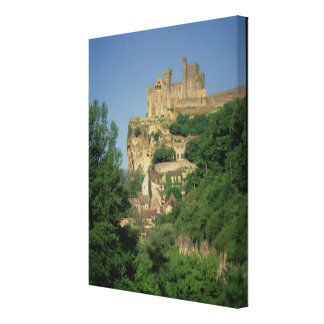 Exterior view from the lower cliffs canvas print