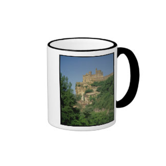 Exterior view from the lower cliffs coffee mugs