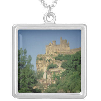 Exterior view from the lower cliffs silver plated necklace