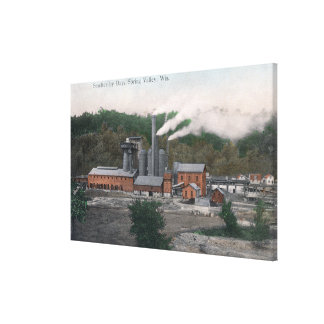 Exterior View of a Smelting Plant Canvas Print