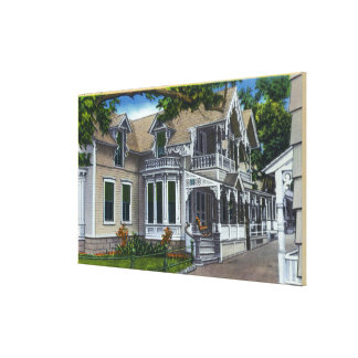 Exterior View of a Typical Ginger Bread House Gallery Wrapped Canvas