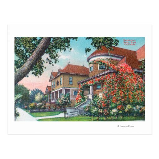 Exterior View of a Typical Residence Postcard