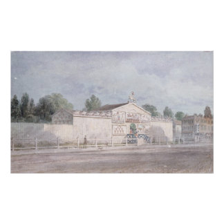 Exterior view of Astley's Amphitheatre, 1777 Poster