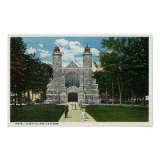 Exterior View of Bates College Chapel Poster