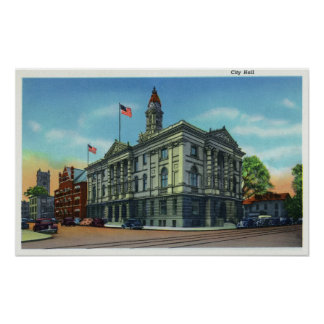 Exterior View of City Hall 3 Poster