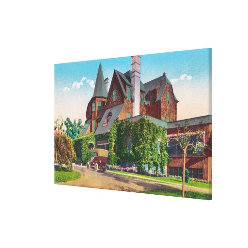 Exterior View of Claremont Country Club Canvas Prints
