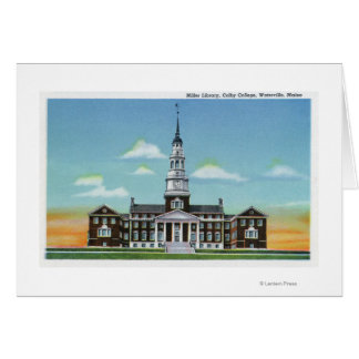 Exterior View of Colby College Miller Library Greeting Card