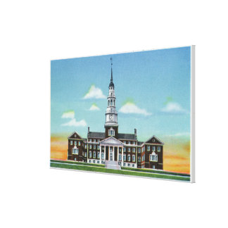 Exterior View of Colby College Miller Library Stretched Canvas Print