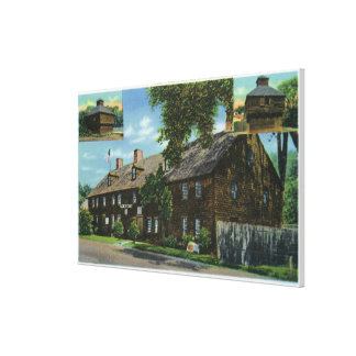 Exterior View of Ft. Western and Block Houses Canvas Print