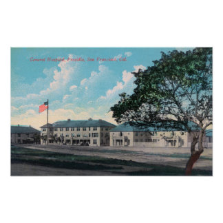 Exterior View of General Hospital, Presidio Poster