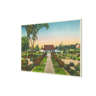 Exterior View of Hoopes Gardens Club House Gallery Wrapped Canvas