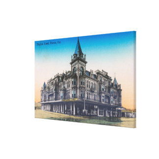 Exterior View of Hughes HotelFresno, CA Canvas Print