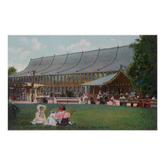 Exterior View of Idora Park Skating Rink Poster
