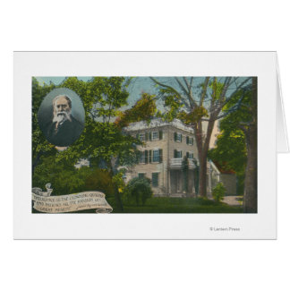 Exterior View of James Russell Lowell Home Card
