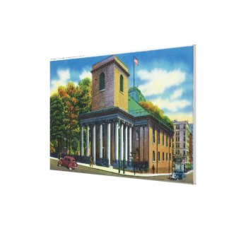 Exterior View of King's Chapel Canvas Print