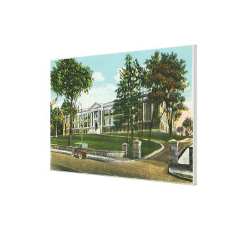 Exterior View of Kingston High School Gallery Wrapped Canvas