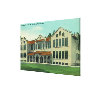 Exterior View of Longfellow School Stretched Canvas Print