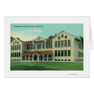 Exterior View of Longfellow School Greeting Cards