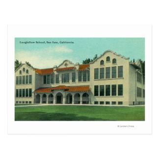 Exterior View of Longfellow School Post Card