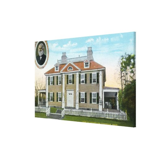 Exterior View of Longfellow's Home # 2 Canvas Prints