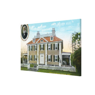 Exterior View of Longfellow's Home # 2 Canvas Print