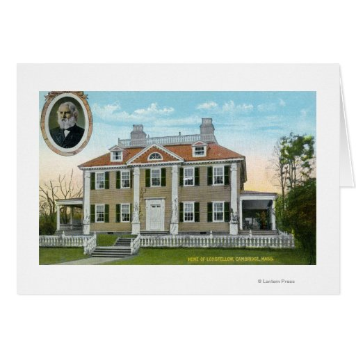 Exterior View of Longfellow's Home # 2 Greeting Cards
