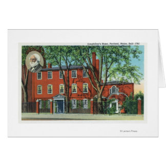 Exterior View of Longfellow's Home 2 Greeting Card