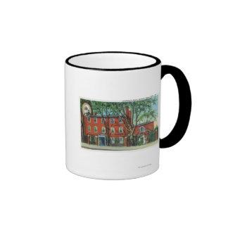 Exterior View of Longfellow's Home 2 Coffee Mugs