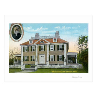 Exterior View of Longfellow's Home # 2 Post Card