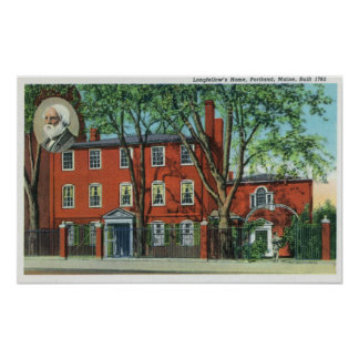 Exterior View of Longfellow's Home 2 Poster