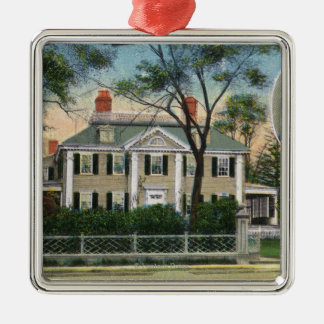 Exterior View of Longfellow's Home Christmas Ornament