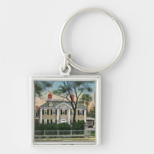 Exterior View of Longfellow's Home Keychains