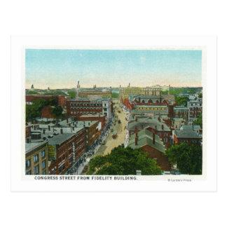 Exterior View of Longfellow's House Postcard