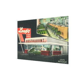 Exterior View of Loop's RestaurantVentura, CA Canvas Print