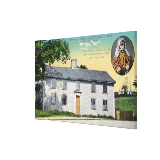 Exterior View of Moll Pitchers Birthplace Gallery Wrapped Canvas