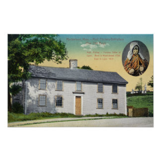 Exterior View of Moll Pitchers Birthplace Poster
