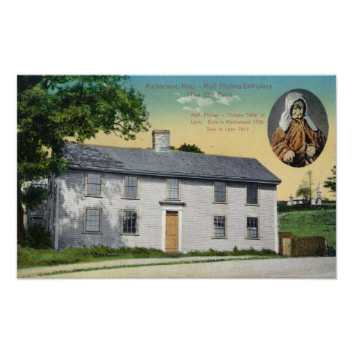 Exterior View of Moll Pitchers Birthplace Print