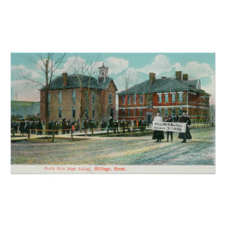 Exterior View of North Side High School Poster