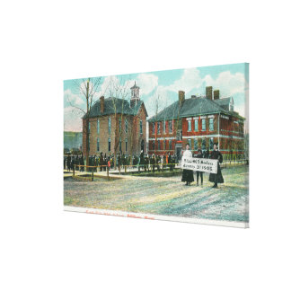 Exterior View of North Side High School Stretched Canvas Print