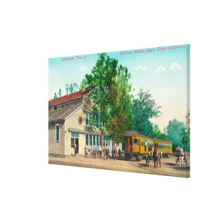 Exterior View of Northern Electric Depot Canvas Print