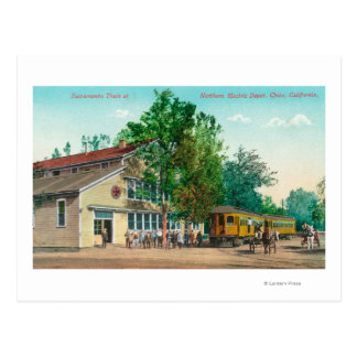 Exterior View of Northern Electric Depot Postcard