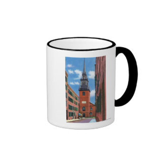 Exterior View of Old North Church Coffee Mugs