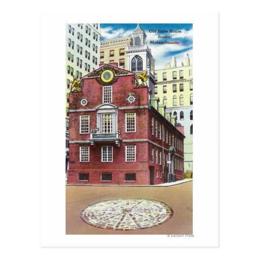 Exterior View of Old State House Post Cards