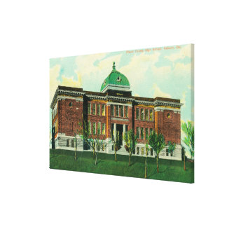 Exterior View of Placer County High School Gallery Wrap Canvas