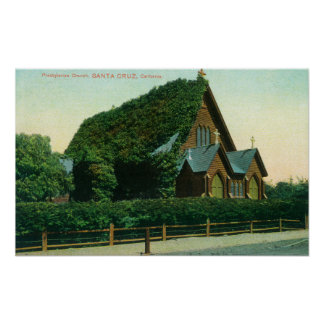 Exterior View of Presbyterian Church Poster